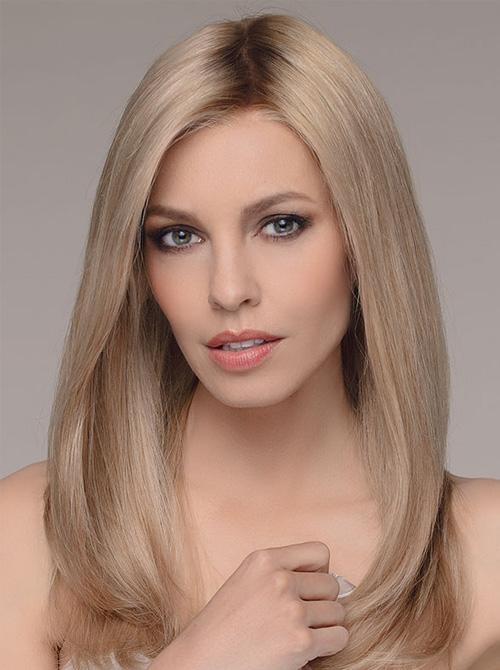 Blonde pruik haarwerk stijl haar